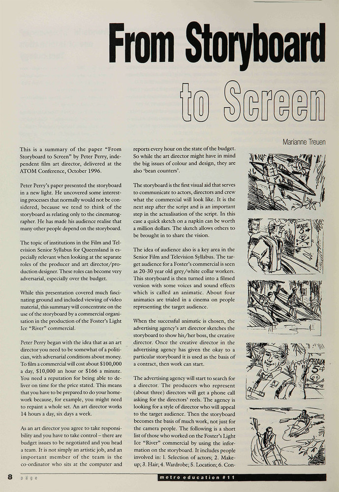 From Storyboard to Screen