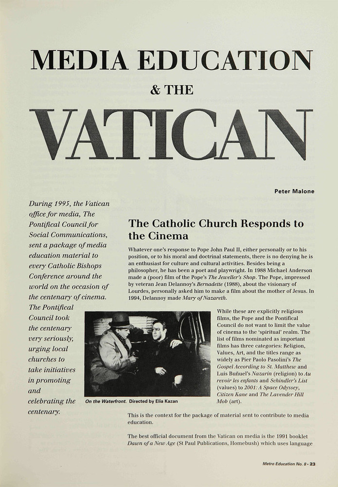 Media Education and the Vatican
