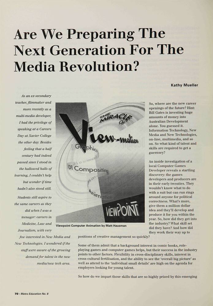 Are We Preparing the Next Generation for the Media Revolution?