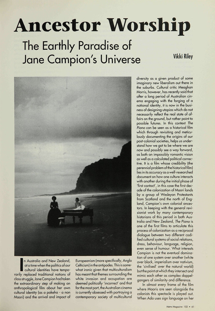 Ancestor Worship: The Earthly Paradise of Jane Campion's Universe
