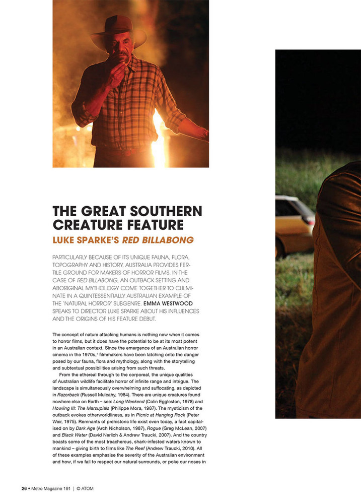 The Great Southern Creature Feature: Luke Sparke's Red Billabong