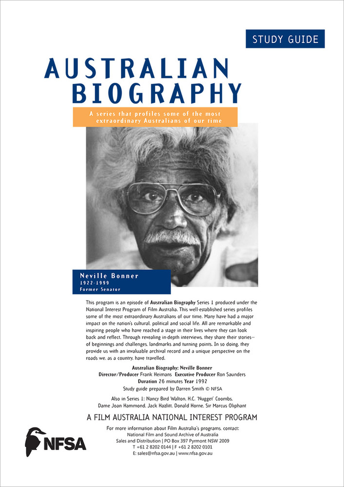 Australian Biography Series - Neville Bonner (Study Guide)