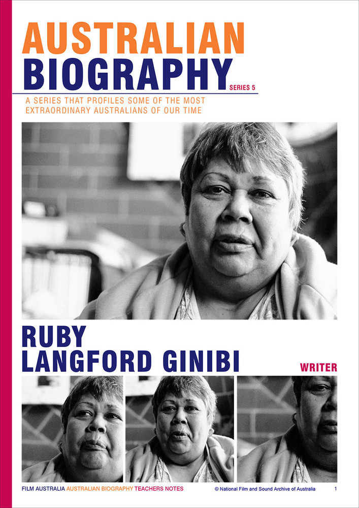 Australian Biography Series - Ruby Langford Ginibi (Study Guide)