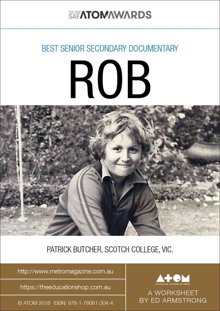 2018 SAE ATOM Award winner: Rob (ATOM Worksheets)