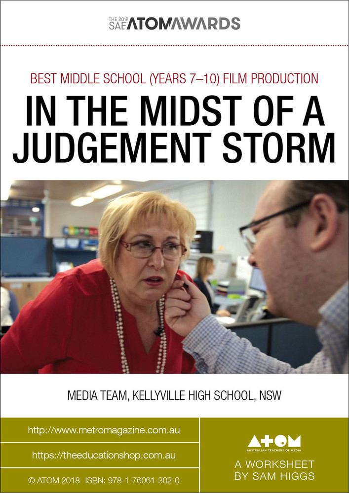 2018 SAE ATOM Award winner: In the Midst of a Judgement Storm (ATOM Worksheets)