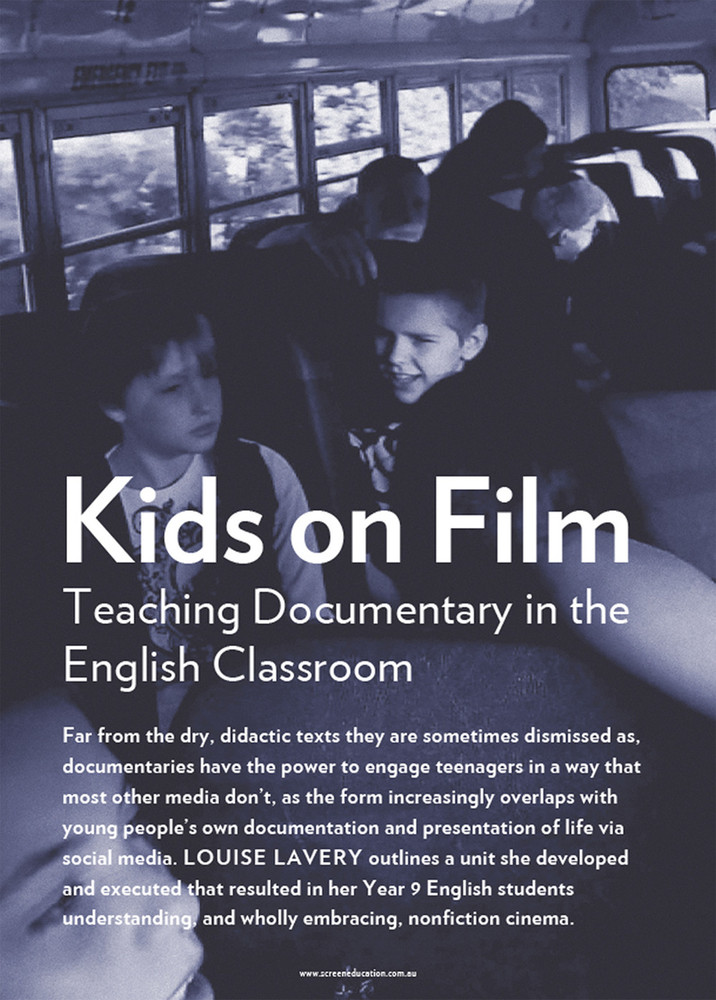 Kids on Film: Teaching Documentary in the English Classroom