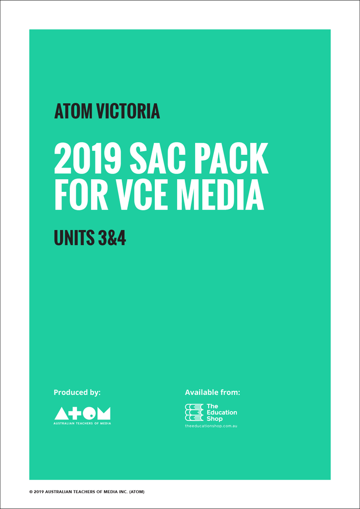 2019 ATOM SAC Pack For VCE Media Units 3&4
