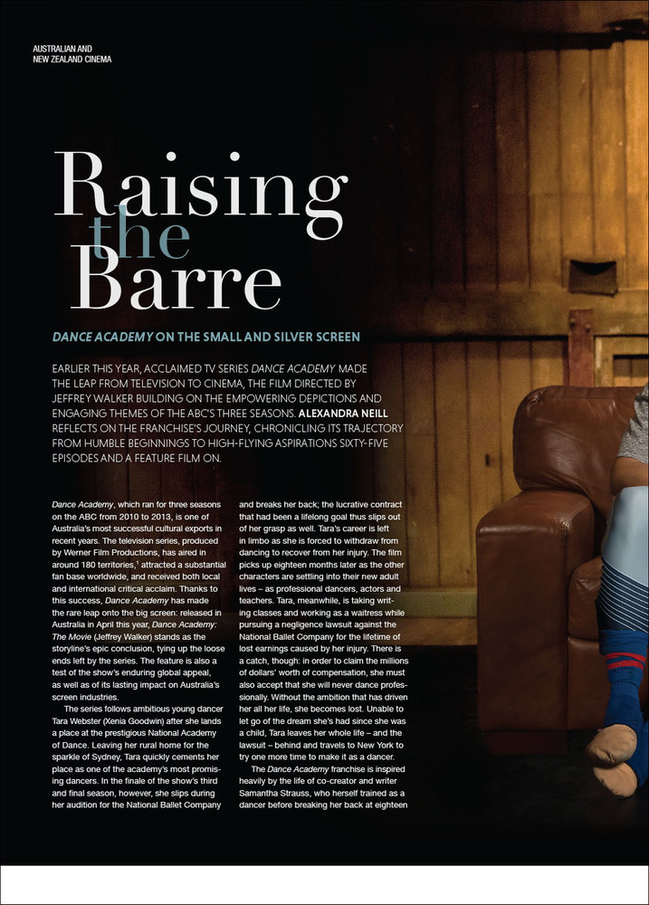 Raising the Barre: 'Dance Academy' on the Small and Silver Screen