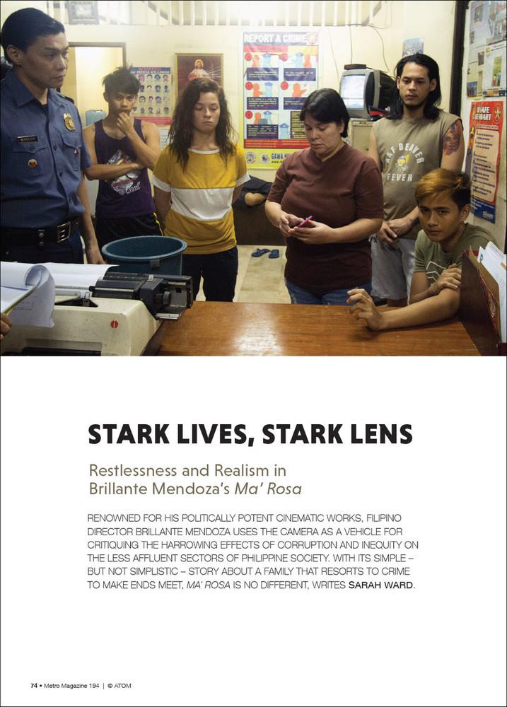 Stark Lives, Stark Lens: Restlessness and Realism in Brillante Mendoza's 'Ma'Rosa'