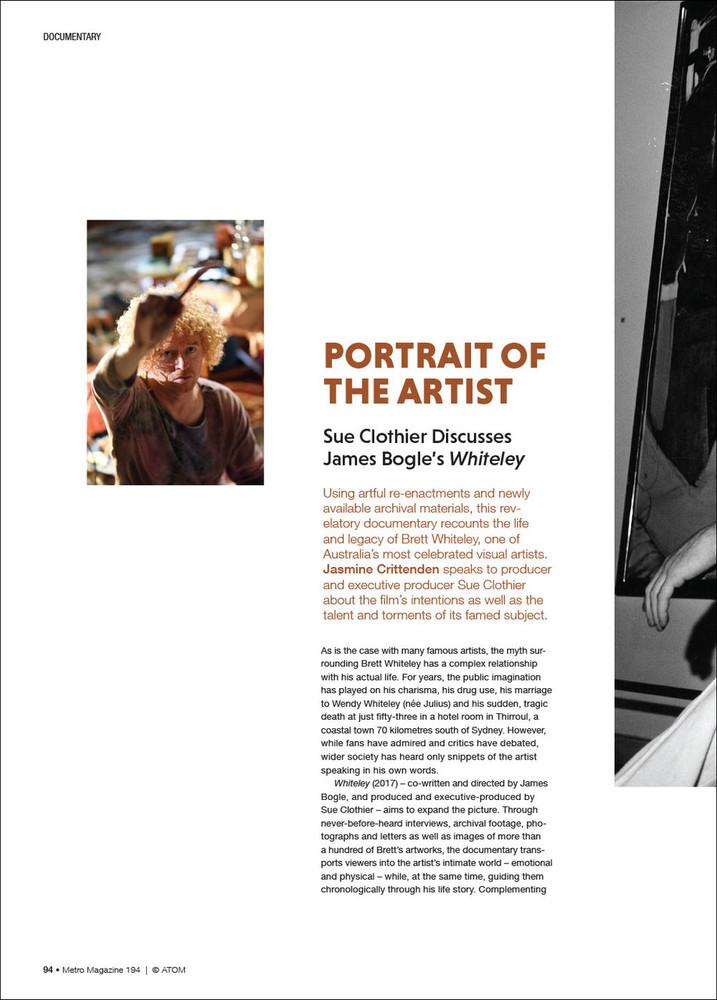 Portrait of the Artist: Sue Clothier Discusses James Bogle's 'Whiteley'