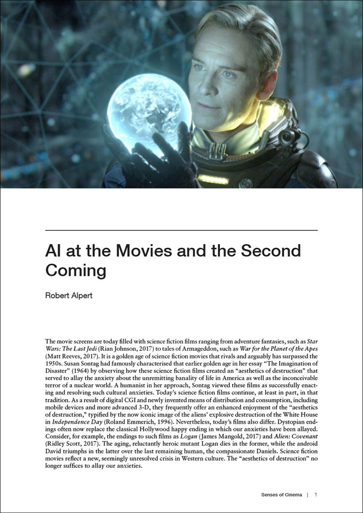 'AI at the Movies and the Second Coming'