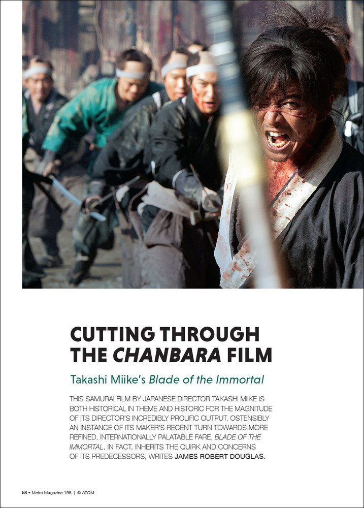 Cutting Through the 'Chanbara' Film: Takashi Miike's 'Blade of the Immortal'