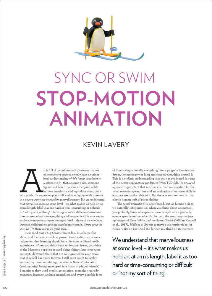 Sync or Swim: Stop-motion Animation