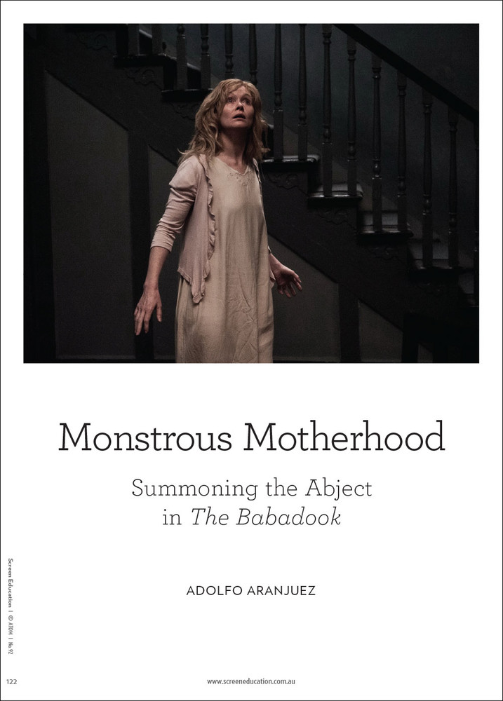 Monstrous Motherhood: Summoning the Abject in 'The Babadook'