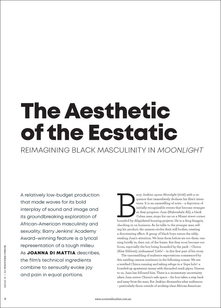 The Aesthetic of the Ecstatic: Reimagining Black Masculinity in 'Moonlight'