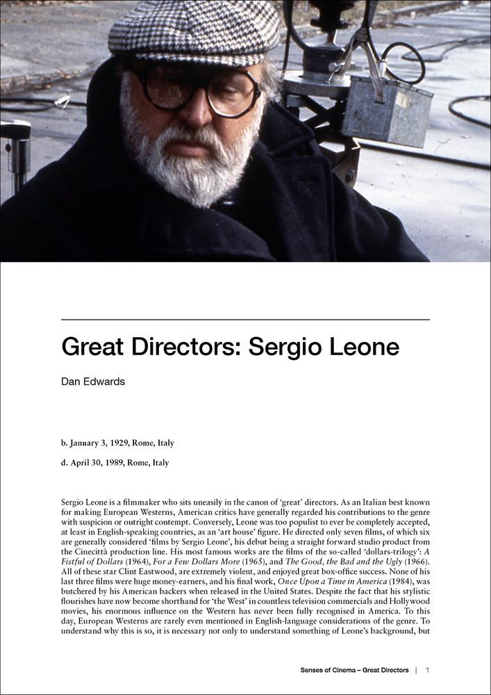 Great Directors: Sergio Leone