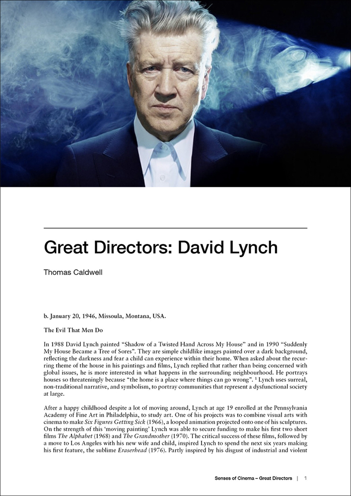 Great Directors: David Lynch