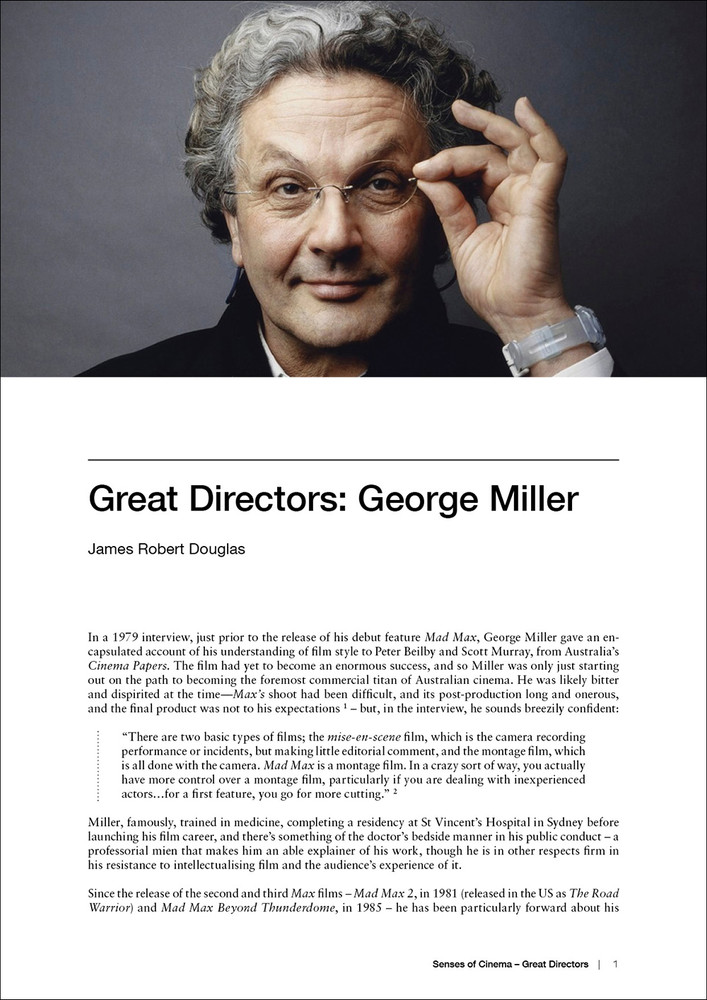 Great Directors: George Miller