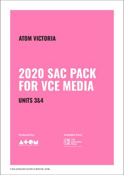 2020 ATOM SAC Pack For VCE Media Units 3&4