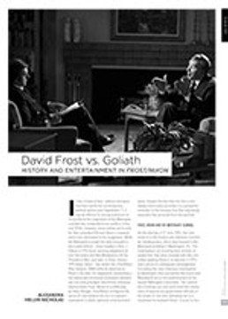 David Frost vs. Goliath: History and Entertainment in <i>Frost/Nixon</i>