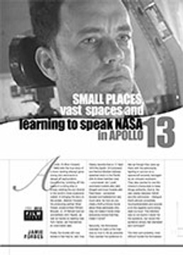 Small Places, Vast Spaces and Learning to speak NASA in <i>Apollo 13</i>