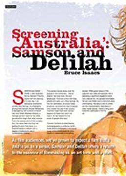 Screening ?ustralia? <i>Samson and Delilah</i>