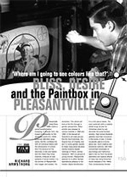 'Where Am I Going to See Colours Like That?': Bliss, Desire and the Paintbox in Pleasantville