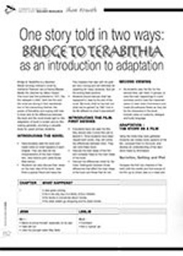 One Story Told in Two Ways: <i>Bridge to Terabithia</i> as an Introduction to Adaptation