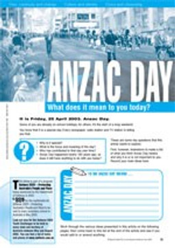 ANZAC Day ?Does it have meaning for young people today?