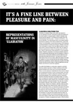 It? a Fine Line Between Pleasure and Pain: Representations of Masculinity in <i>Gladiator</i>