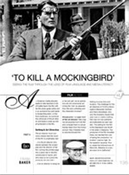 To Kill a Mockingbird: Seeing the Film Through the Lens of Film Language and Media Literacy