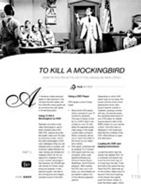 To Kill a Mockingbird: Seeing the Film Through the Lens of Film Language and Media Literacy ?Part 3