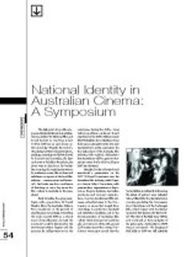 National Identity in Australian Cinema: A Symposium