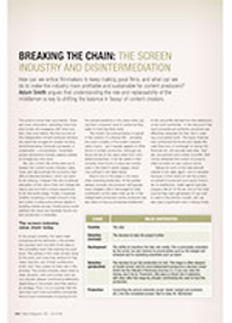 Breaking the Chain: The Screen Industry and Disintermediation