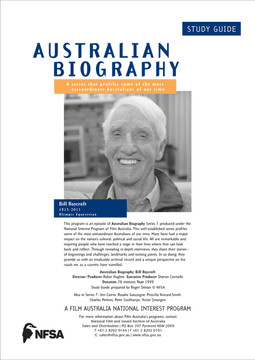 Australian Biography Series - Bill Roycroft (Study Guide)