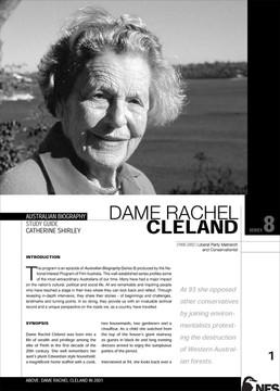Australian Biography Series - Dame Rachel Cleland (Study Guide)