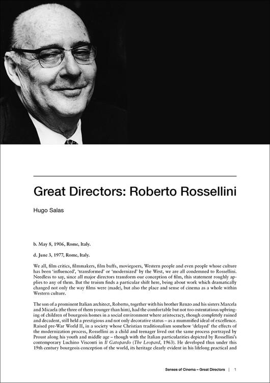 Great Directors: Roberto Rossellini