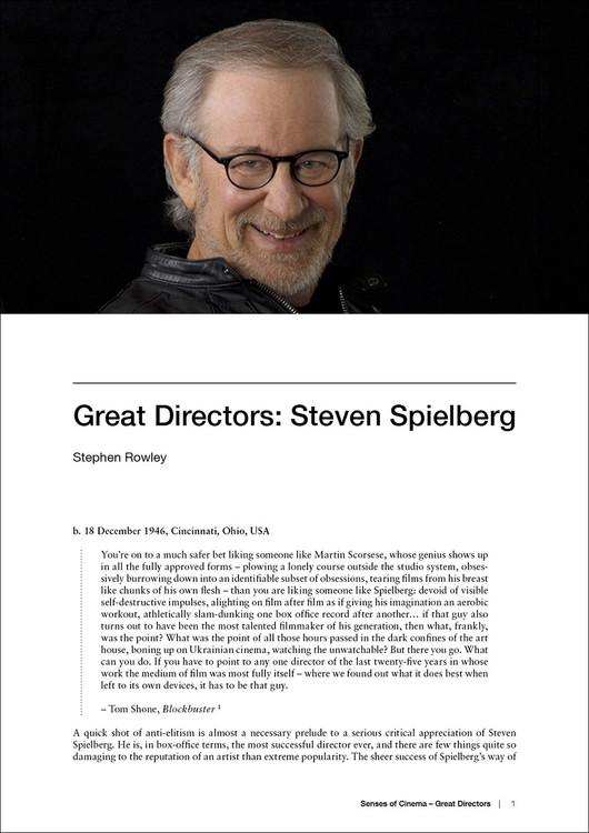 Great Directors: Steven Spielberg