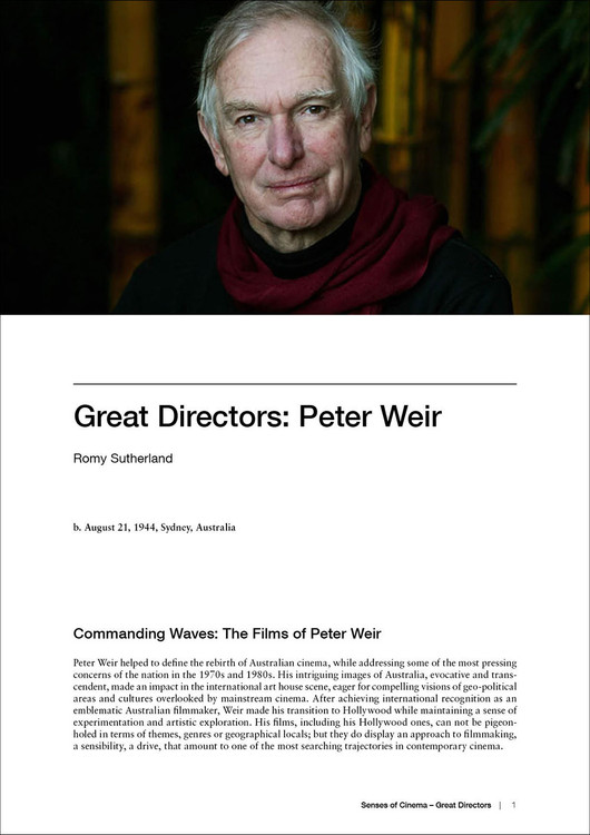 Great Directors:  Peter Weir