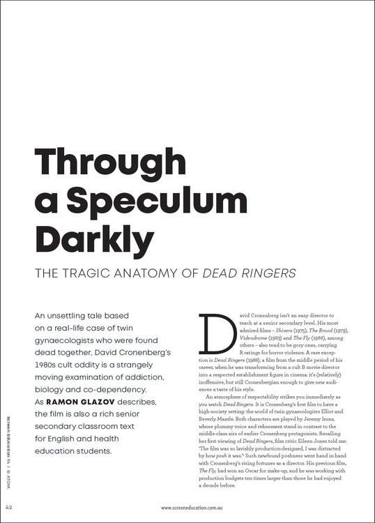 Through a Speculum Darkly: The Tragic Anatomy of 'Dead Ringers'