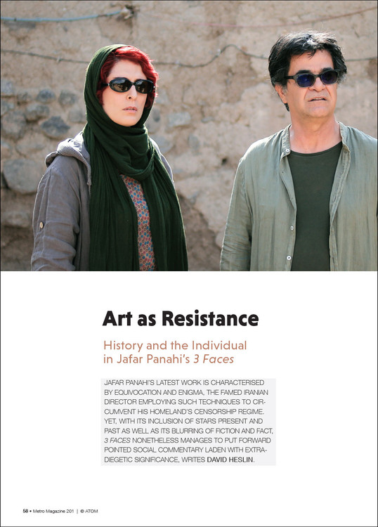 Art as Resistance: History and the Individual in Jafar Panahi's '3 Faces'