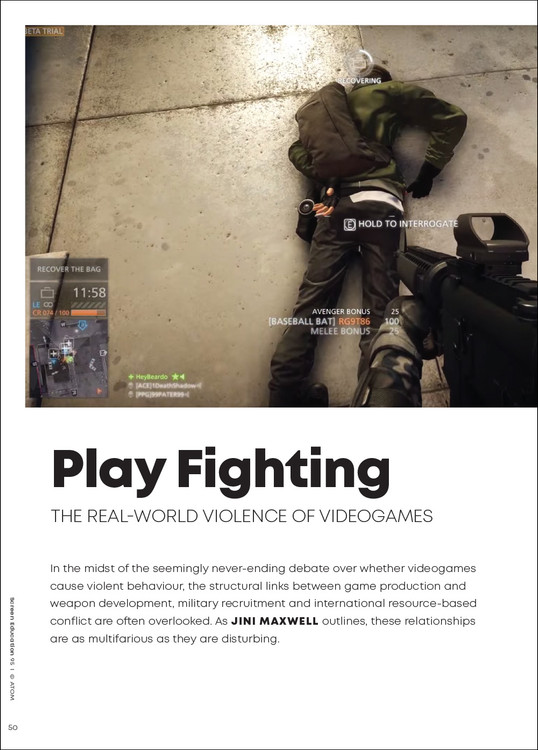 Play Fighting: The Real-world Violence of Videogames