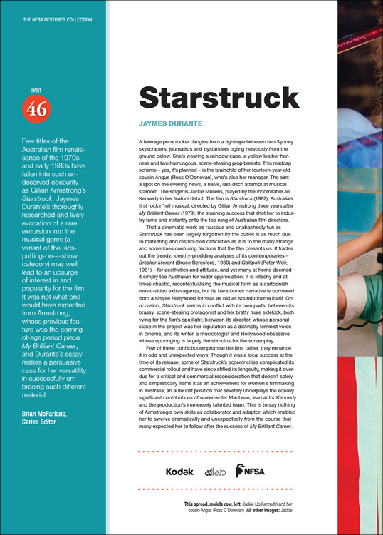 NFSA Restores Collection: 'Starstruck'