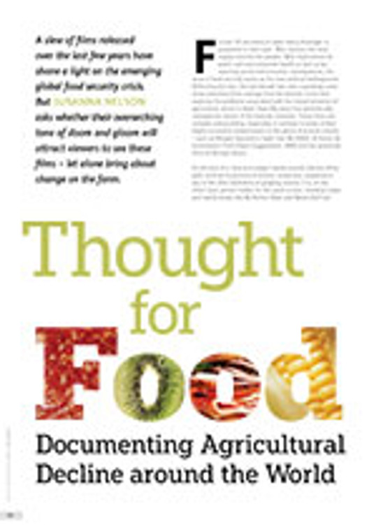 Thought for Food: Documenting Agricultural Decline around the World