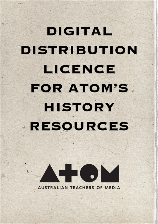 Digital Distribution Licence for ATOM's Australian Curriculum History Resources