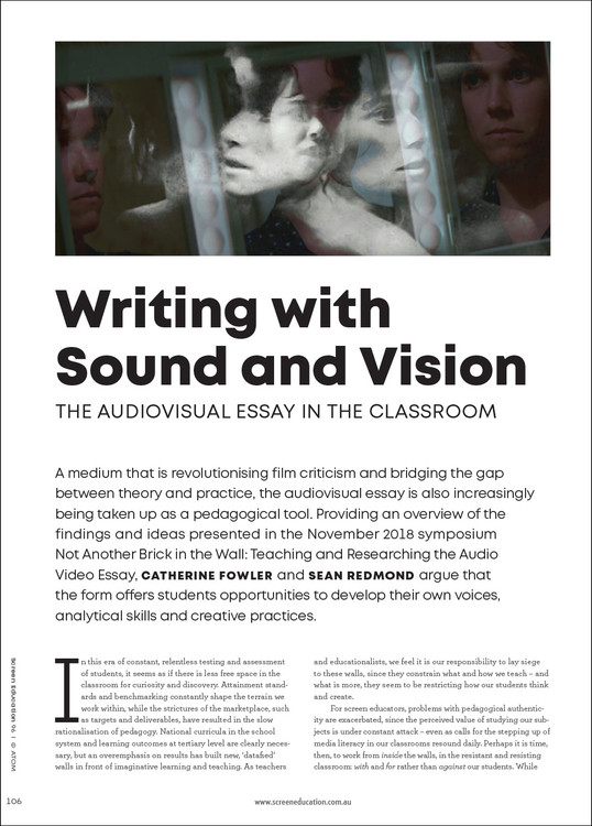 Writing with Sound and Vision: The Audiovisual Essay in the Classroom