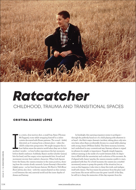 'Ratcatcher': Childhood, Trauma and Transitional Spaces