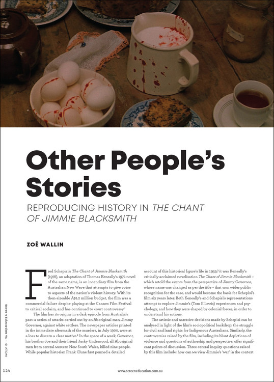 Other People's Stories: Reproducing History in 'The Chant of Jimmie Blacksmith'