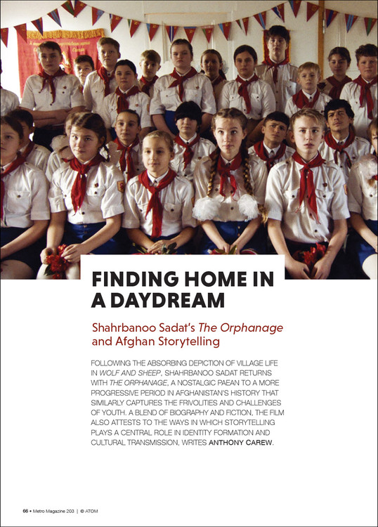 Finding Home in a Daydream: Shahrbanoo Sadat's 'The Orphanage' and Afghan Storytelling