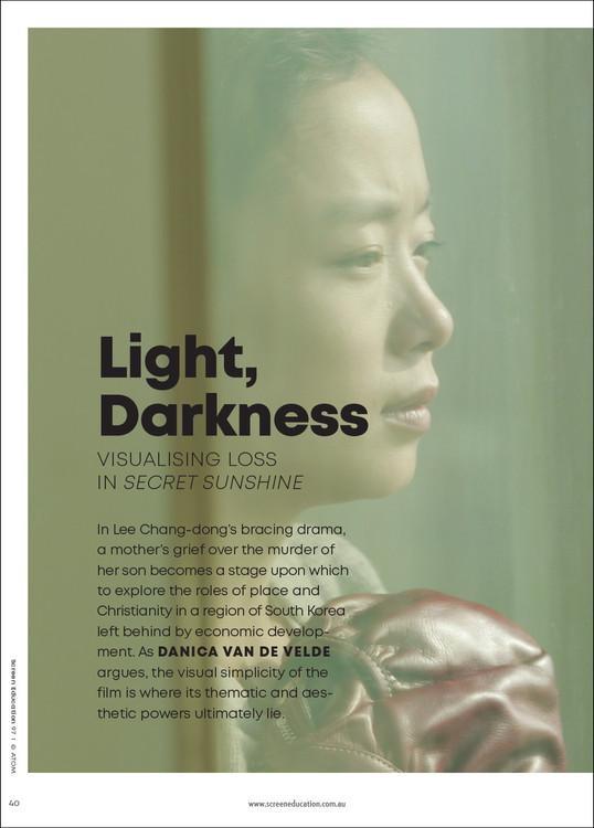 Light, Darkness: Visualising Loss in 'Secret Sunshine'